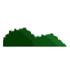 Green grass meadow bush nature image vector