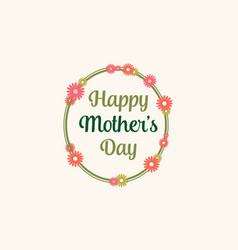 Happy mother day beauty style vector