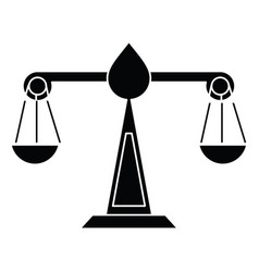 Justice scale law symbol pictogram vector