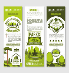 landscape gardening and eco park banner template vector image vector image