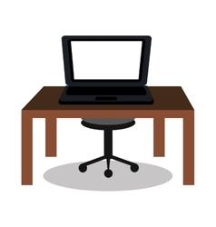 laptop on desk design vector image