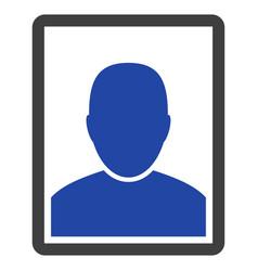 Man portrait flat icon vector