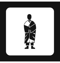 Monk icon simple style vector