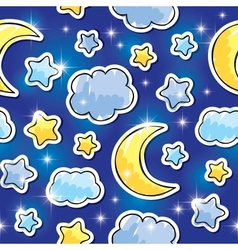 night pattern vector image