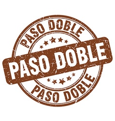 paso doble brown grunge round vintage rubber stamp vector image vector image