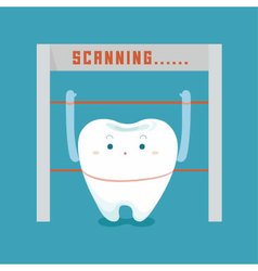 Scanning about tooth vector image