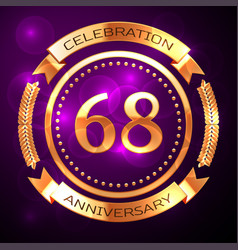 Sixty eight years anniversary celebration with vector