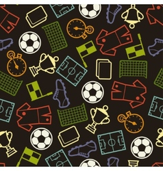 Sports seamless pattern with soccer symbols vector image vector image