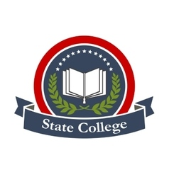State college university high school icon vector image vector image