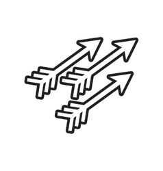 Stylish black and white icon indian arrows vector