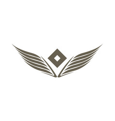 stylized double wings isolated emblem vector image