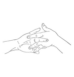 This picture intertwined hands vintage engraving vector