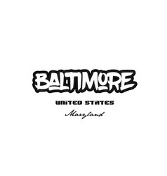 united states baltimore maryland city graffitti vector image