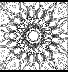 Vintage mandala decoration scheme pattern vector