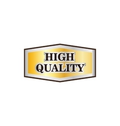 High quality golden label icon flat style vector