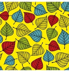 Colorful seamless pattern with autumn leaves vector image