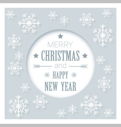 Merry Christmas and Happy New Year greeting card 8 vector image