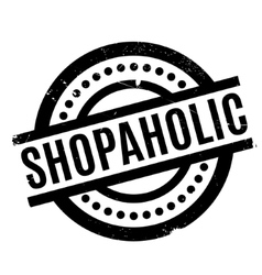 Shopaholic rubber stamp vector