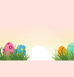 At sunrise easter egg landscape vector
