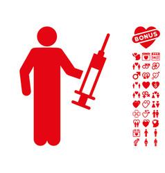 drug dealer icon with valentine bonus vector image