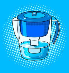 Water jug filter pop art vector