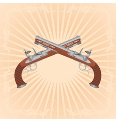 Antique guns vector