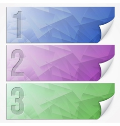 Abstract presentation paper banner set vector