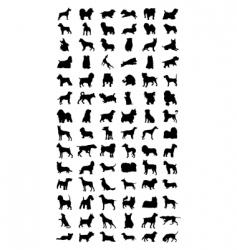 dog vector image