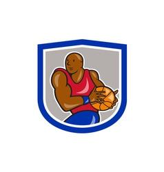 Basketball Player Holding Ball Cartoon vector image