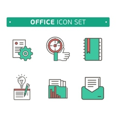 Marketing strategy icons simple glyph style icons vector