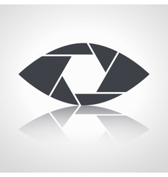 Shutter eye conceptual flat abstract icon vector