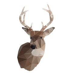 Abstract whitetail deer buck vector