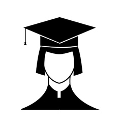New graduate student icon vector