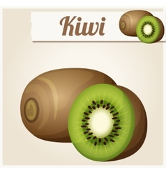 Kiwi detailed icon vector
