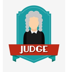 Justice and law design vector