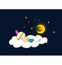 indian sleeping vector image