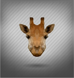 abstract triangle polygonal giraffe vector image