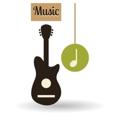 Music design music note icon isolated vector