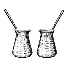 Turkish coffee pot vector
