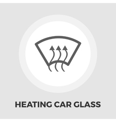 Heating glass flat icon vector image