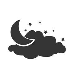 Weather and clouds isolated flat icon vector