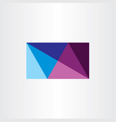 abstract business card geometric design triangles vector image