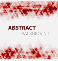 abstract red triangle overlapping background vector image vector image