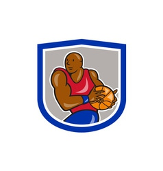 Basketball Player Holding Ball Cartoon vector image vector image