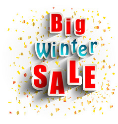 Big winter sale background banner vector