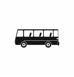 Bus icon in simple style vector image