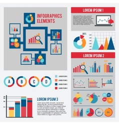 Business chart infographics set vector image