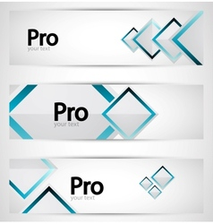 business square banner set vector image