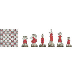 Chess pieces with canada flag vector