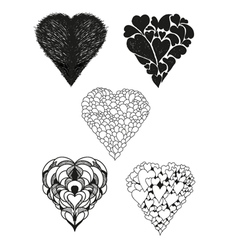 Collection of heart vector image vector image
